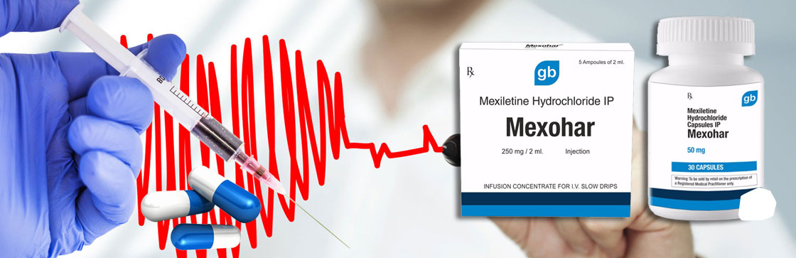 mexiletine hydrochloride medicine Arrhythmia capsules injection Mexohar Capsules injection distributors importers sellers in india punjab ludhiana